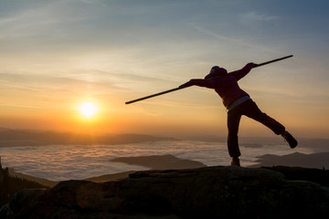balance in the sunrise