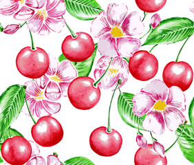 Cherry and Flowers