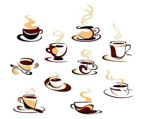 Coffee cups set