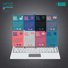 Infographic Laptop