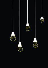 lighting bulb vector illustration