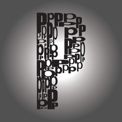 letter P. Vector illustration