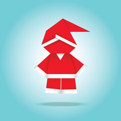 Santa made in origami style