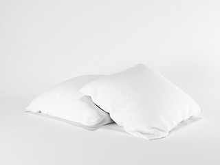 two pillows on the white background