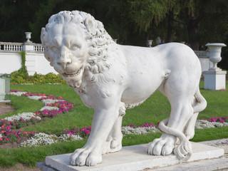 Lion sculpture standing