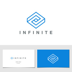 Logo Rhombus Abstract Infinite impossible loop vector design