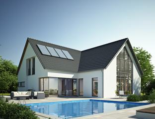 Wohnhaus mit Pool