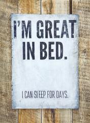 Vintage funny motivational  poster. Home decoration