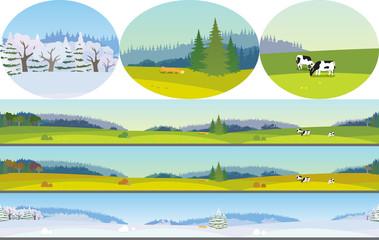 Seamless Landscape Wall mural