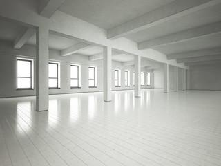Loft space grey walls