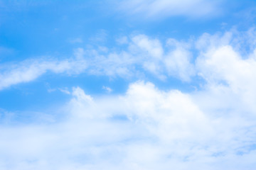 blur white cloud and blue sky background image.