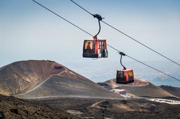 Etna volcano funicular Fototapete