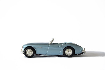 Blue Sports Car on white background