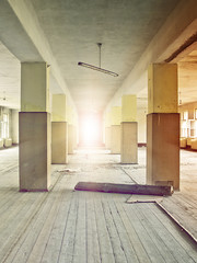 Fototapete - factory floor