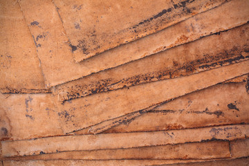 Pieces of weathered fabric