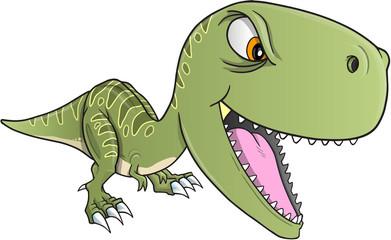 Tough Dinosaur T-Rex Vector Illustration Art