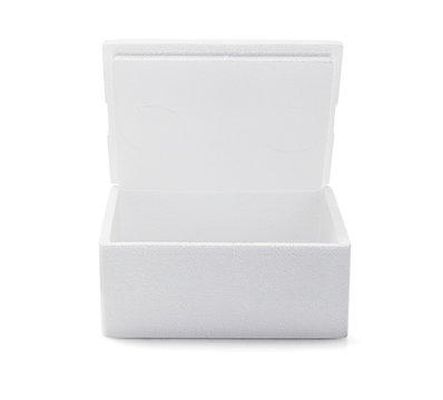 Open Styrofoam Box