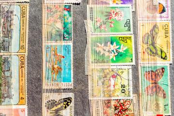 Foto op Aluminium Imagination Stamp collection