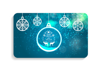 Abstract Beauty Christmas and New Year Card Vector Illustration.