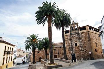 Wall Mural - Plaza y convento de Santa Clara, Cáceres, España