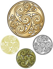Pagan emblem, celtic coin design