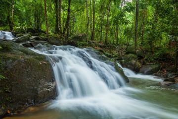 Side view of Krating waterfall in Juntaburi province ,Thailand