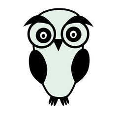 Cute owl isolated vector illustration