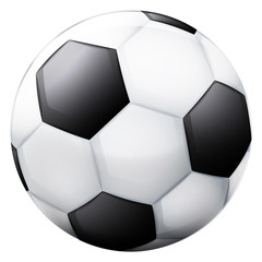 classical football ball 3D object isolated