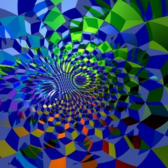 Abstract Blue Fractal Grids Background