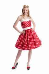 Mädchen im Rockabilly Kleid