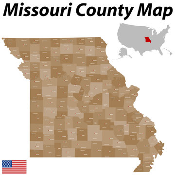 Missouri County Karte