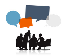 Business People Meeting with Speech Bubble