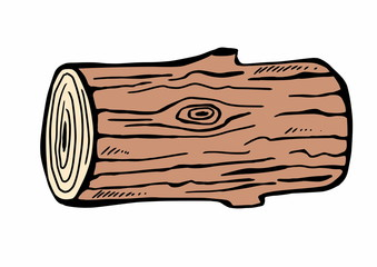 hand drawn wood logs
