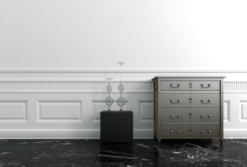 End Table and Chest of Drawers in Upscale Home