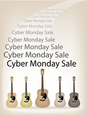 Beautiful Guitars Background of for Cyber Monday Sale