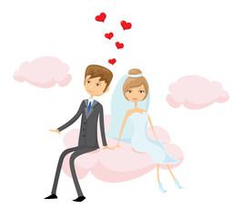 мультяшные картинки невесты и жениха