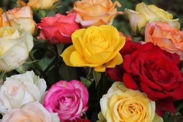 Ein bunter Rosenstrauss