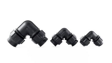 different size of Polybutylene(PB) 90 elbow, Grab lock Fitting