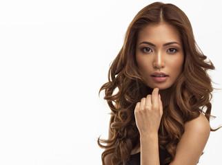 Portrait of young beautiful asian girl
