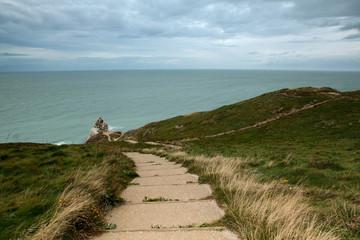 Kanalküste der Normandie bei Etretat.