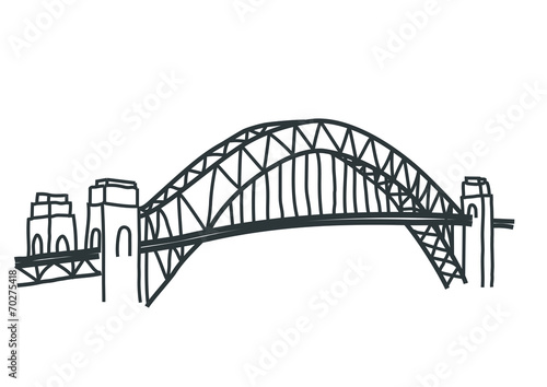 Sydney harbour bridge drawing stock image and royalty for How to draw websites for free