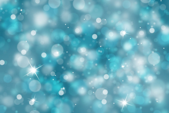 Winter light background with sparkle