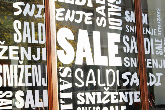 Sale signs - shopping concept