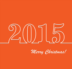 Abstract Christmas Background. 2015 New Year, vector illustratio