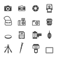 camera and equipment icons