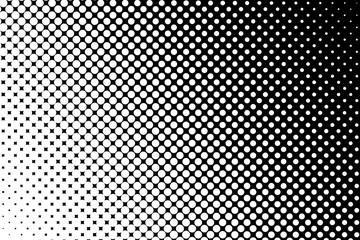 Trame dégradée pointillée blanc et noir Wall mural