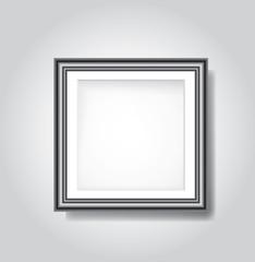black frame on white wall