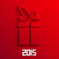 Vector gift background. 2015 new year.