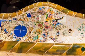 Ceramic Bench Park Guell - Barcelona Spain
