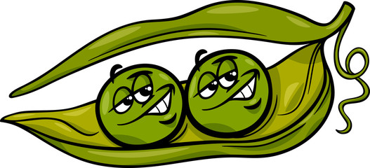 like two peas in a pod cartoon